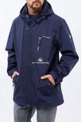 Оптом Ветровка softshell мужская большого размера темно-синего цвета 1921TS в Екатеринбурге, фото 6