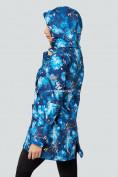 Оптом Парка женская осенняя весенняя softshell синего цвета 1922-2S в  Красноярске, фото 3