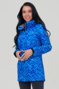Оптом Парка женская осенняя весенняя softshell синего цвета 19221S в  Красноярске, фото 4