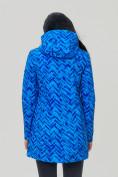 Оптом Парка женская осенняя весенняя softshell синего цвета 19221S в  Красноярске, фото 7