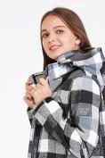 Оптом Парка женская осенняя весенняя softshell серого цвета 19221Sr в Екатеринбурге