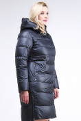 Оптом Куртка зимняя женская молодежная темно-синего цвета 191923_02TS в Казани, фото 3