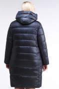Оптом Куртка зимняя женская молодежная темно-синего цвета 191923_02TS в Казани, фото 4