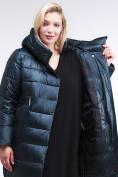 Оптом Куртка зимняя женская молодежная темно-зеленого цвета 191923_03TZ в Казани, фото 4