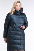 Оптом Куртка зимняя женская молодежная темно-зеленого цвета 191923_03TZ в Казани, фото 3
