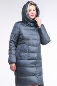 Оптом Куртка зимняя женская молодежная темно-серого цвета 191923_11TС в Казани, фото 5