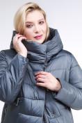 Оптом Куртка зимняя женская молодежная темно-серого цвета 191923_11TС в Казани, фото 6