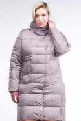 Оптом Куртка зимняя женская молодежная бежевого цвета 191923_12B в Екатеринбурге, фото 3