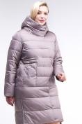 Оптом Куртка зимняя женская молодежная бежевого цвета 191923_12B в Екатеринбурге, фото 4