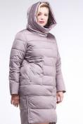 Оптом Куртка зимняя женская молодежная бежевого цвета 191923_12B в Екатеринбурге, фото 6