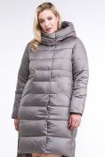 Оптом Куртка зимняя женская молодежная серого цвета 191923_30Sr в Казани, фото 2