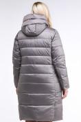 Оптом Куртка зимняя женская молодежная серого цвета 191923_30Sr в Казани, фото 4