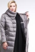 Оптом Куртка зимняя женская молодежная серого цвета 191923_30Sr в Казани, фото 7