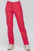 Оптом Брюки женские из ткани softshell розового цвета 1926R в Казани, фото 2