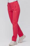 Оптом Брюки женские из ткани softshell розового цвета 1926R в Казани, фото 6
