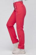 Оптом Брюки женские из ткани softshell розового цвета 1926R в Казани, фото 7