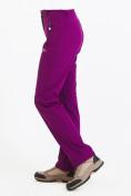 Оптом Брюки женские из ткани softshell фиолетового цвета 1926F в Казани, фото 5