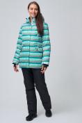 Оптом Женская зимняя горнолыжная куртка бирюзового цвета 1937Br в Екатеринбурге, фото 3
