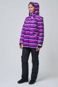 Оптом Женская зимняя горнолыжная куртка темно-фиолетового цвета 1937TF в Екатеринбурге, фото 4