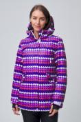 Оптом Женская зимняя горнолыжная куртка темно-фиолетового цвета 1937TF в Екатеринбурге