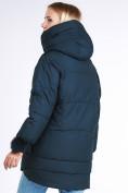 Оптом Куртка зимняя женская молодежная с помпонами  темно-зеленого цвета 1943_03TZ в  Красноярске, фото 5