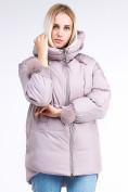 Оптом Куртка зимняя женская молодежная с помпонами розового цвета 1943_12R в Казани, фото 2