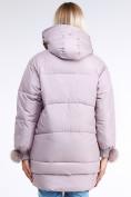 Оптом Куртка зимняя женская молодежная с помпонами розового цвета 1943_12R в Казани, фото 4