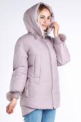 Оптом Куртка зимняя женская молодежная с помпонами розового цвета 1943_12R в Казани, фото 5