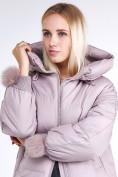 Оптом Куртка зимняя женская молодежная с помпонами розового цвета 1943_12R в Казани, фото 7