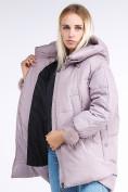 Оптом Куртка зимняя женская молодежная с помпонами розового цвета 1943_12R в Казани, фото 8