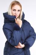 Оптом Куртка зимняя женская молодежная с помпонами темно-синего цвета 1943_22TS в Казани, фото 6