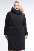Оптом Куртка зимняя женская классическая одеяло черного цвета 191949_01Ch в  Красноярске, фото 2