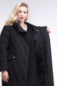 Оптом Куртка зимняя женская классическая одеяло черного цвета 191949_01Ch в  Красноярске, фото 7
