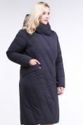 Оптом Куртка зимняя женская классическая одеяло темно-синего цвета 191949_02TS в Казани, фото 3