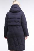 Оптом Куртка зимняя женская классическая одеяло темно-синего цвета 191949_02TS в  Красноярске, фото 4