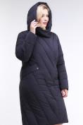 Оптом Куртка зимняя женская классическая одеяло темно-синего цвета 191949_02TS в Казани, фото 5