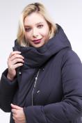 Оптом Куртка зимняя женская классическая одеяло темно-синего цвета 191949_02TS в Казани, фото 6