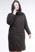 Оптом Куртка зимняя женская классическая одеяло коричневого цвета 191949_09K в  Красноярске, фото 6