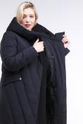 Оптом Куртка зимняя женская классическая одеяло коричневого цвета 191949_09K в  Красноярске, фото 8
