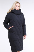 Оптом Куртка зимняя женская классическая одеяло темно-серого цвета 191949_11TC в Нижнем Новгороде, фото 3