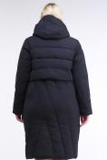 Оптом Куртка зимняя женская классическая одеяло темно-серого цвета 191949_11TC в Нижнем Новгороде, фото 5