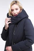 Оптом Куртка зимняя женская классическая одеяло темно-серого цвета 191949_11TC в Нижнем Новгороде