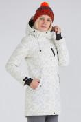 Оптом Куртка парка зимняя женская белого цвета 1949Bl в  Красноярске, фото 4