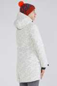 Оптом Куртка парка зимняя женская белого цвета 1949Bl в  Красноярске, фото 5