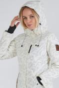 Оптом Куртка парка зимняя женская белого цвета 1949Bl в  Красноярске, фото 9