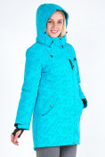 Оптом Куртка парка зимняя женская голубого цвета 1949Gl в  Красноярске, фото 8