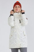 Оптом Куртка парка зимняя женская белого цвета 1949Bl в  Красноярске, фото 2