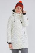 Оптом Куртка парка зимняя женская белого цвета 1949Bl в  Красноярске, фото 3