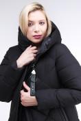 Оптом Куртка зимняя женская одеяло черного цвета 1959_01Ch в Екатеринбурге, фото 6