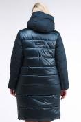 Оптом Куртка зимняя женская одеяло темно-зеленого цвета 1959_03TZ в Казани, фото 5